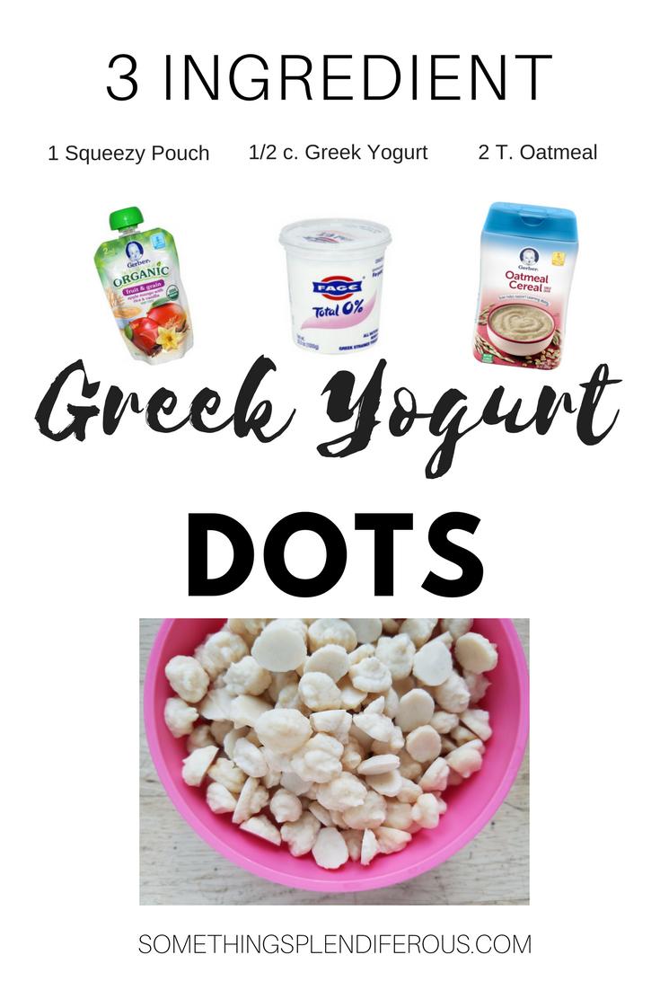 baby led weaning greek yogurt dots, frozen yogurt baby somethingsplendiferous.com