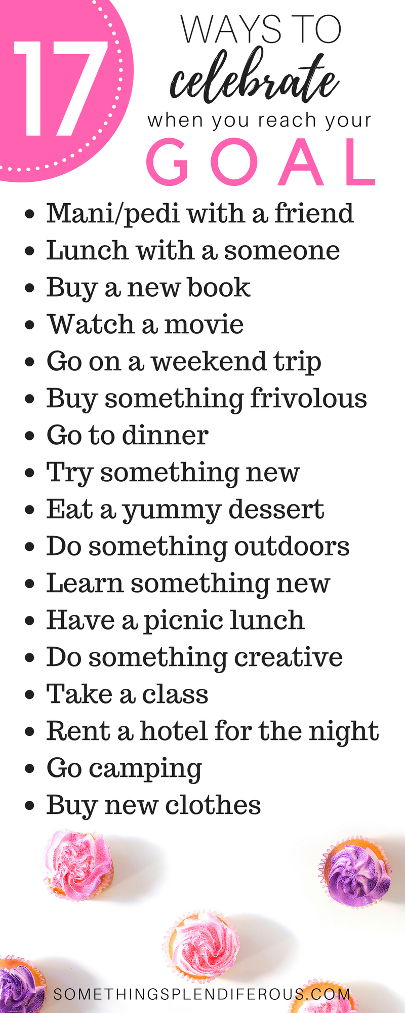 resolution 17 ways to Celebrate When you accomplish your goal you need to spend some time treating yourself! www.somethingsplendiferous.com